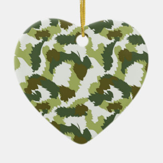 Green Camouflage pattern Christmas Ornament