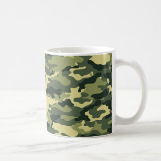 Green Camouflage Pattern Coffee Mug