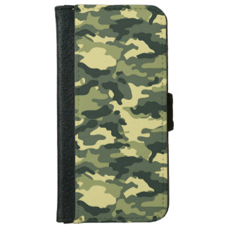 Green Camouflage Pattern iPhone 6 Wallet Case