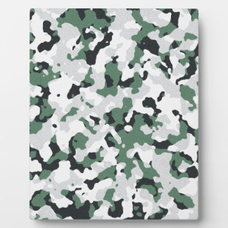 Green camouflage pattern photo plaques