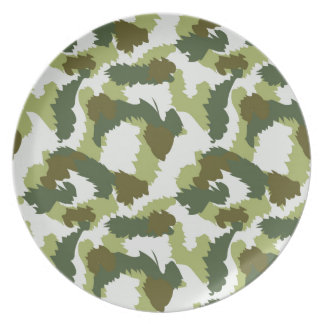 Green Camouflage pattern Plate