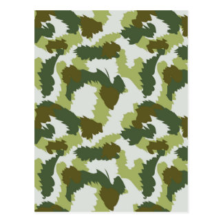 Green Camouflage pattern Postcard