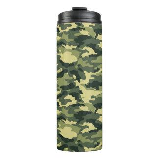 Green Camouflage Pattern Thermal Tumbler
