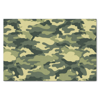 Green Camouflage Pattern Tissue Paper