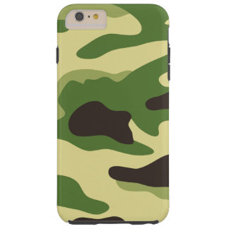 Green Camouflage Pattern Tough iPhone 6 Plus Case