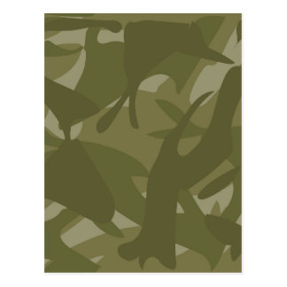 Green Camouflage Postcard