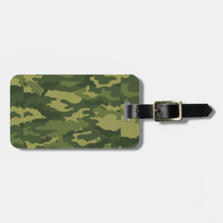 Green Camouflage Print Luggage Tag