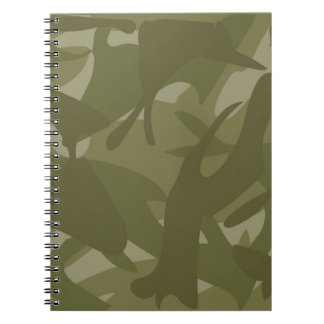Green Camouflage Spiral Note Book