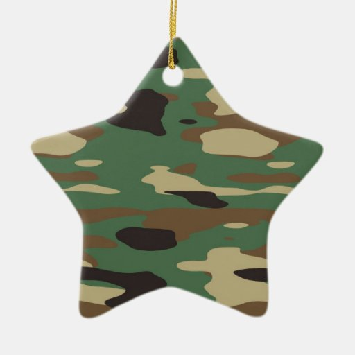 Green Camouflage Star Christmas Ornament