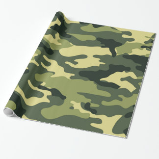 Green camouflage | Wrapping Paper