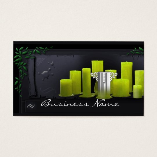 Green Candles Business Card