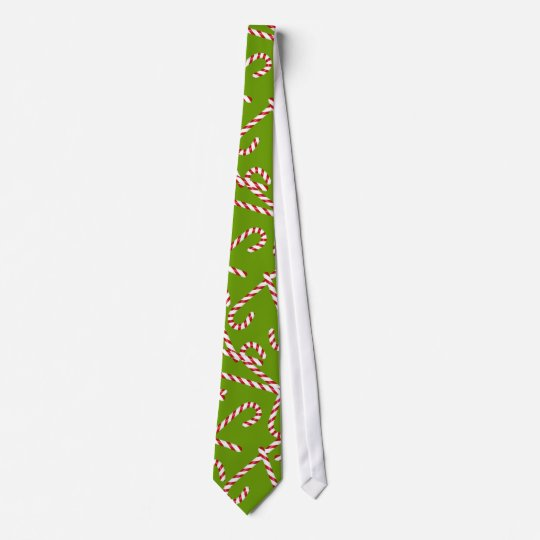 Green Candy Cane Pattern Tie