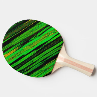 Green Candy Stripe Ping Pong Paddle