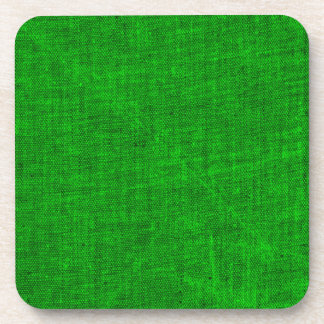 Green Canvas Texture Coaster