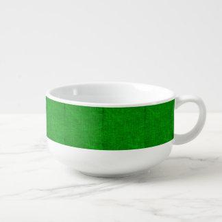 Green Canvas Texture Soup Mug
