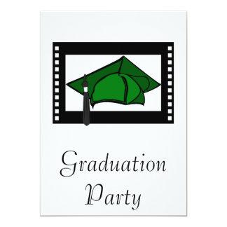 Green Cap Black Tassel 13 Cm X 18 Cm Invitation Card