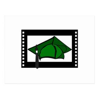 Green Cap Black Tassel Postcard