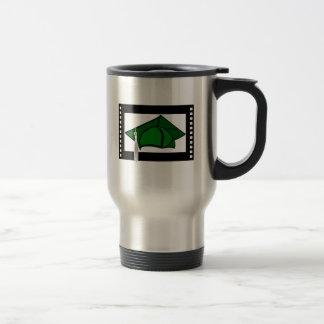 Green Cap Silver Tassel Mug