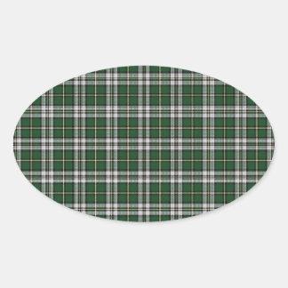 Green cape Breton tartan Oval Sticker