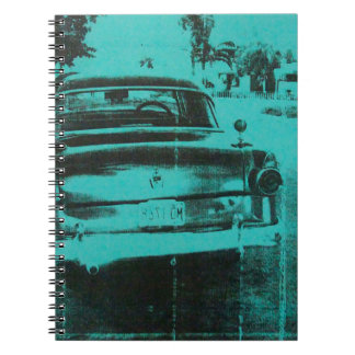 Green car notebook