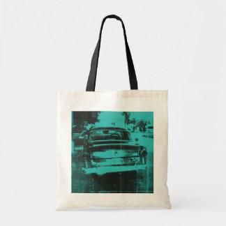 Green car tote bag