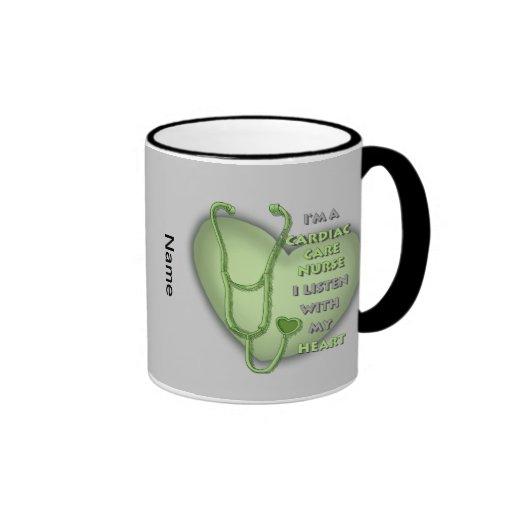 Green Cardiac Care Nurse Mug
