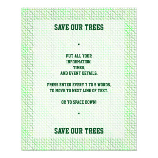 Green Caring Recycle for the World Earth Day 11.5 Cm X 14 Cm Flyer