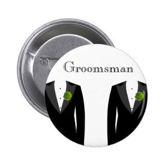 Green Carnation Badge for a Gay Wedding Groomsman