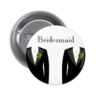 Green Carnation Bridesmaid Badge for a Gay Wedding
