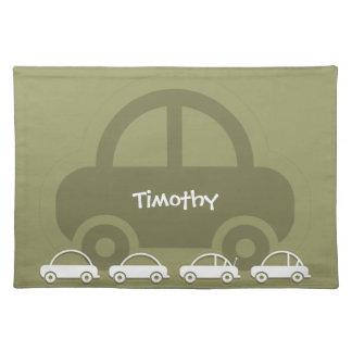 Green Cars Custom Table Placemats