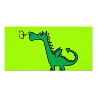 Green Cartoon Dragon Card