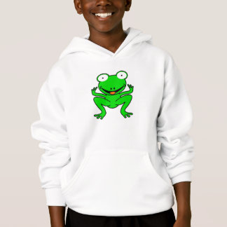 Green cartoon frog.