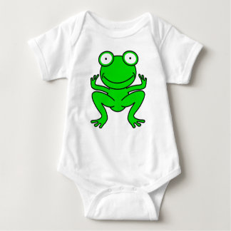 Green Cartoon Frog Baby Bodysuit