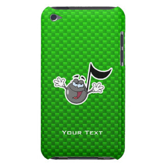 Green Cartoon Music Note iPod Case-Mate Cases