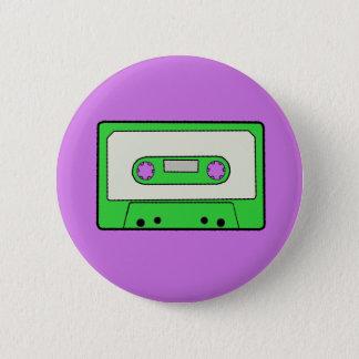 Green Cassette 6 Cm Round Badge