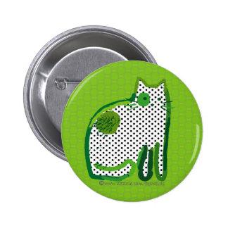 'green cat' digital painting pin