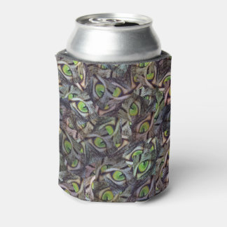 Green Cat Eyes Abstract Art, Can Cooler