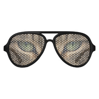 Green Cat Eyes Adult Aviator Party Shades