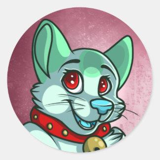 Green Cat Sticker