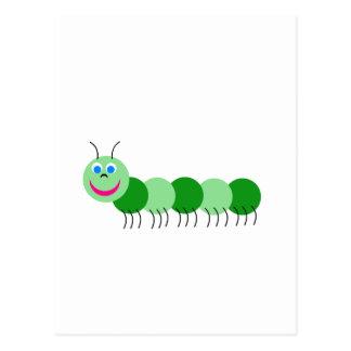Green caterpillar postcard