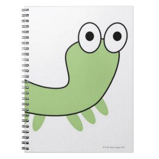 Green Caterpillar Spiral Notebooks