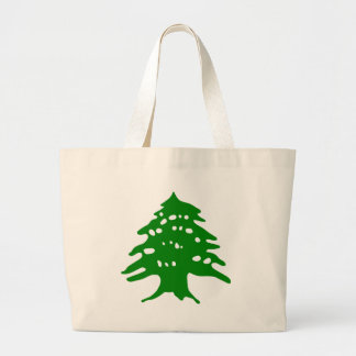 Green Cedar / Lebanon Cedar Large Tote Bag