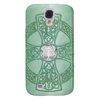 Green Celtic Cross 3g Galaxy S4 Case