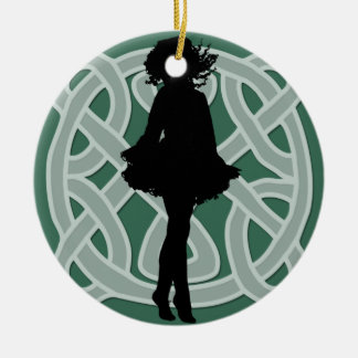 Green Celtic Dancer Ornament