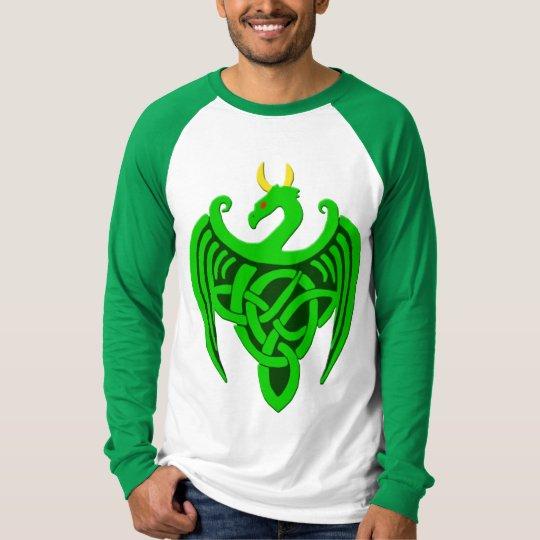 Green Celtic Dragon Long Sleeve Shirt
