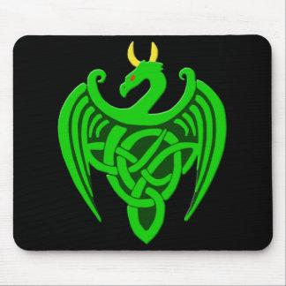 Green Celtic Dragon Mousepad