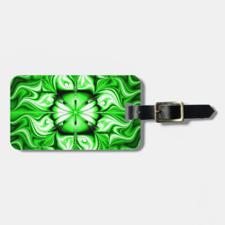 Green Celtic Fractal Luggage Tag