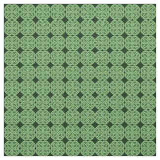 Green Celtic Irish Knot Fabric