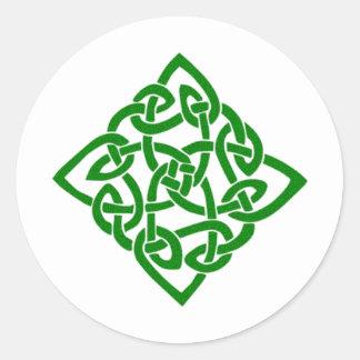 Green Celtic Knot Round Sticker