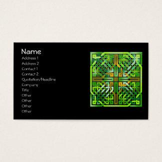Green Celtic Knot Tile 174 Business Card